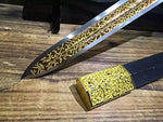 Chinese short sword/Dagger/High carbon steel/Alloy fitting/Length 19""