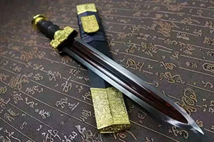 "Dagger/Damascus steel red blade/Alloy fitting/Length 17"" - Chinese sword shop"