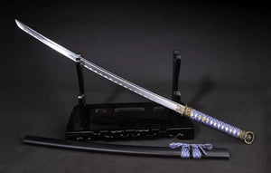 Samurai Sword-Medium carbon steel-Wood scabbard-Alloy fitting-Full tang - Chinese sword shop