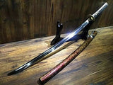 Katana/T10 high carbon steel blade/Wood scabbard/Brass fitted/Length 39""