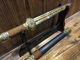 "Chinese sword/Dagger/High carbon steel blade/Alloy fitting/Length 18"" - Chinese sword shop"