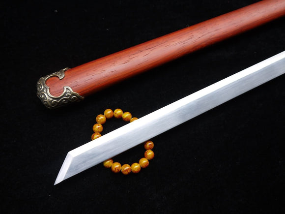 Tang dao/T10 High Carbon Steel/Redwood Scabbard/Brass fittings/Full Tang - Chinese sword shop