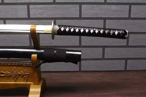 Samurai sword/Katana/High carbon steel blade/Wood paint scabbard/Alloy fitted/Length 39""