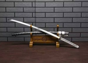 Samurai Katana/High carbon steel blade/Solid wood scabbard/Alloy fittings - Chinese sword shop