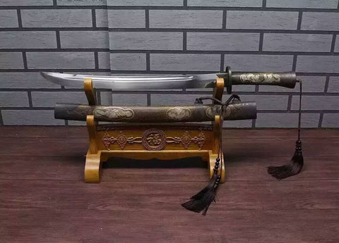 Broadsword/Damascus steel handmade blade/Brass scabbard/Length 28""