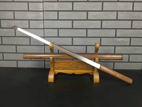 Tang dao(High manganese steel,Rosewood scabbard)Full tang,Length 39""