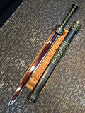 "Fengyun jian/Damascus steel red blade/Black wood/Alloy handle/Length 35"" - Chinese sword shop"