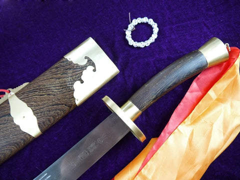 Single broadsword/Medium carbon steel/Rosewood/Coppe/Kung fu