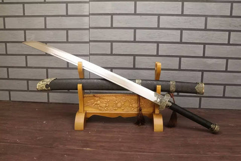 "Broadsword,da dao/High carbon steel blade/Wood scabbard/Alloy fitting/Length 40"" - Chinese sword shop"