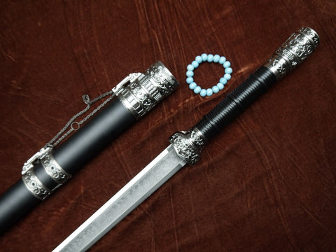 Wolong sword-Stainless steel-Alloy scabbard