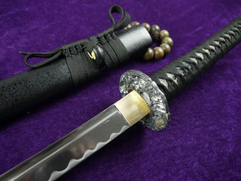 "katana(Medium carbon steel Blade,Solid wood scabbard,Alloy production)Overall Length 39"" - Chinese sword shop"