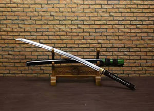 "Samurai Katana/High carbon steel blade/Solid wood paint scabbard/Alloy fitted/Length 39"" - Chinese sword shop"