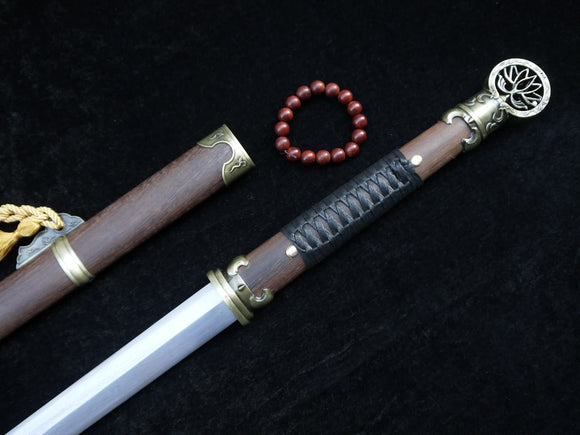 Chinese sword/Pei Dong jian/Damascus steel blade/Rosewood scabbard/Length 41