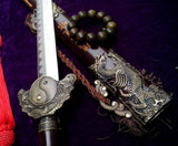 Xuanwu jian/Four images sword/Solid wood black matte paint/Carbon steel blade/Length 41""