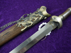 XUANWU Sword sale/Damascus steel blades/Rosewood scabbard/Alloy - Chinese sword shop
