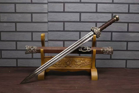 Chinese sword,High carbon steel etch blade,Rosewood scabbard - Chinese sword shop