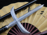 YARI Japan cross rifles Piece of sickled spear/Damascus steel katana wood - Chinese sword shop