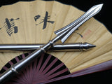 Chinese sword/Tai chi Spear/Overall stainless steel Handmade/Two rod/lance - Chinese sword shop