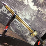 "Dagger,duan jian,High carbon steel blade,Alloy fitting,Length 18"" - Chinese sword shop"