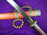 Kangxi sabers,High carbon steel,Alloy fittings,Redwood scabbard - Chinese sword shop