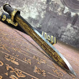 Dagger,duan jian,High carbon steel blade,Alloy fitting,Length 18""
