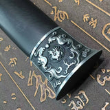 Han jian/High carbon steel eight surface blade/Black wood/Alloy handle - Chinese sword shop