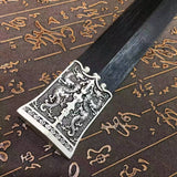 Han Jian/High manganese steel eight surface blade/Black scabbard/Length 39""