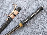Katana/Hand Forged/carbon steel blade/Wood/Oriental cherry Tusba/Heat Tempered - Chinese sword shop