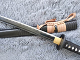 Katana/Hand Forged/carbon steel blade/Wood/Oriental cherry Tusba/Heat Tempered