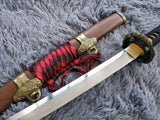Nihontou Tachi,High carbon steel Clay temper,Rosewood,Alloy