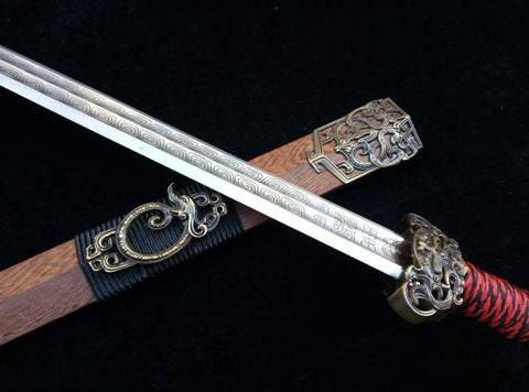 Talisman sword(High carbon steel blade,Rosewood,Alloy fitted)Length 30""