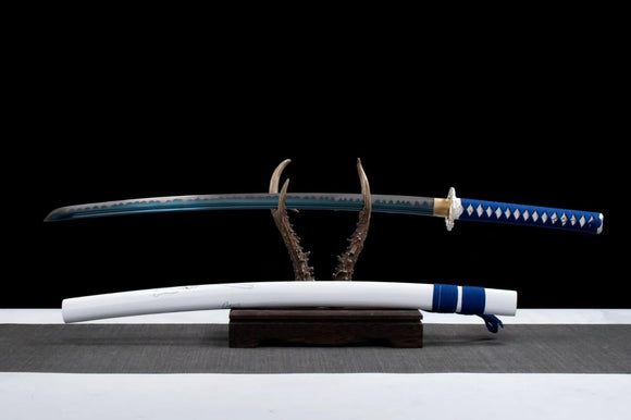 Samurai Sword Katana Forged high Carbon Steel White Scabbard