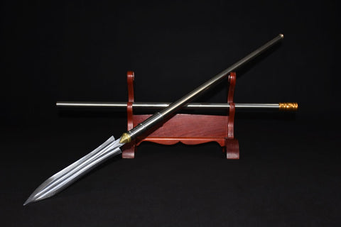 Spear,Handmade,High carbon steel,Tai chi kung fu