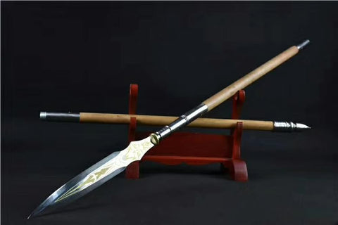 Ray spear,High manganese steel Spearhead,Hardwood rod