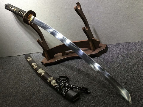 Samurai sword,Hand forged,High carbon steel burn blade,Brass,Full tang,B