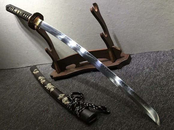 Samurai sword,Hand forged,High carbon steel burn blade,Brass,Full tang,B - Chinese sword shop