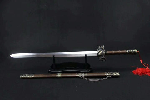 "Bagua sword(Medium carbon steel,Rosewood scabbard,Alloy fittings)Length 43"" - Chinese sword shop"