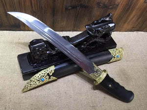 Persian sword,Damascus steel blade,Ebony scabbard,Length 20 inch - Chinese sword shop