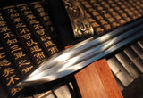 Four inages  han sword,High carbon steel blade,Rosewood,Brass handle - Chinese sword shop