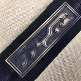 Han sword,Damascus Steel etch blade,Black wood,Brass - Chinese sword shop