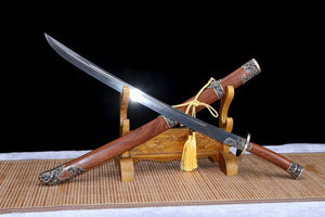 Broadsword,Forged Damascus steel blade,Brass fittings
