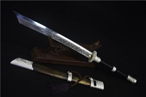 Flying Tiger saber,High carbon steel blade,Brass scabbard - Chinese sword shop