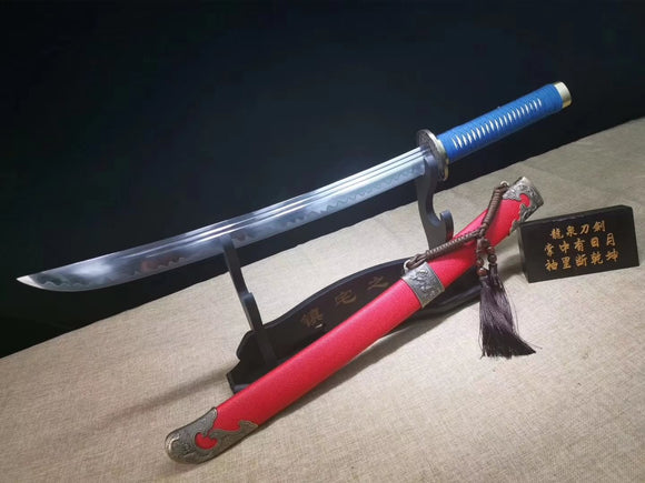 Qing dao sword,High carbon steel blade,Red scabbard,Alloy fittings - Chinese sword shop