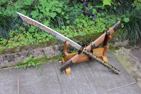 Broadsword,Handmade(High carbon steel blade,Alloy handle)Battle ready - Chinese sword shop