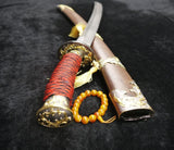 Broadsword/Damascus steel blade/Rosewood scabbard/Alloy fittings/Length 38""
