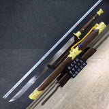 Cut horse broadsword,High carbon steel blade,Rosewood,Alloy - Chinese sword shop