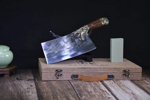 Cleaver Knife Carbon Steel Traditional Chinese Kitchen Knives Vegetables Tools - Chinese sword shop
