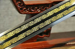 "Talisman sword(High carbon steel etched blade,Rosewood,Alloy fittings)Length 45"" - Chinese sword shop"