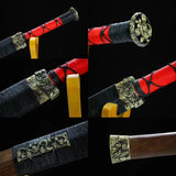 Chibi jian,High Carbon Steel blade,Rosewood,Alloy,Full Tang&Handmade art - Chinese sword shop