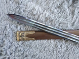 Hanwu Sword,Hand Forged,High Carbon Steel Blade,Brass,Black Wood - Chinese sword shop